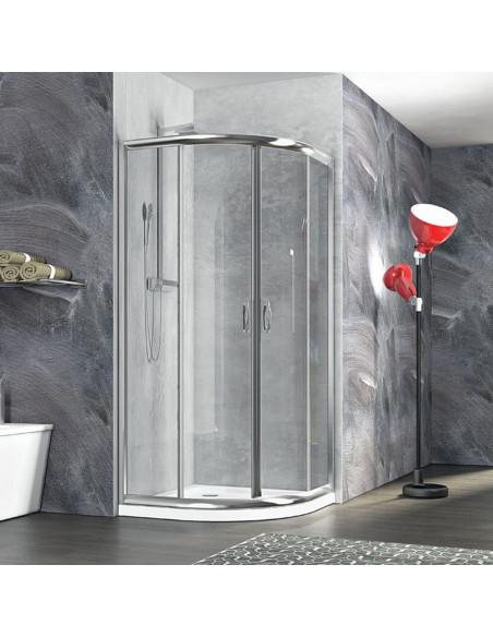Zaffiro box doccia semicircolare 90x90 cristallo trasparente 6 mm altezza 190 cm