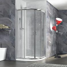 Zaffiro box doccia semicircolare 80x80 cristallo stampato 6 mm altezza 190 cm