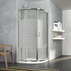 Zaffiro box doccia semicircolare 80x80 cristallo serigrafato 6 mm altezza 190 cm