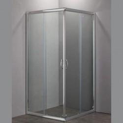 Nolan box doccia quadrato 80x80 cristallo trasparente 6 mm altezza 185 cm