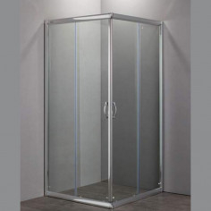 Box doccia Nolan quadrato 75x75 cristallo stampato 6 mm altezza 190 cm