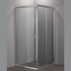 Nolan box doccia quadrato 80x80 cristallo stampato 6 mm altezza 185 cm