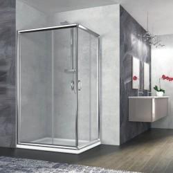 Box doccia rettangolare Nolan 80x120 cristallo trasparente 6 mm altezza 190 cm