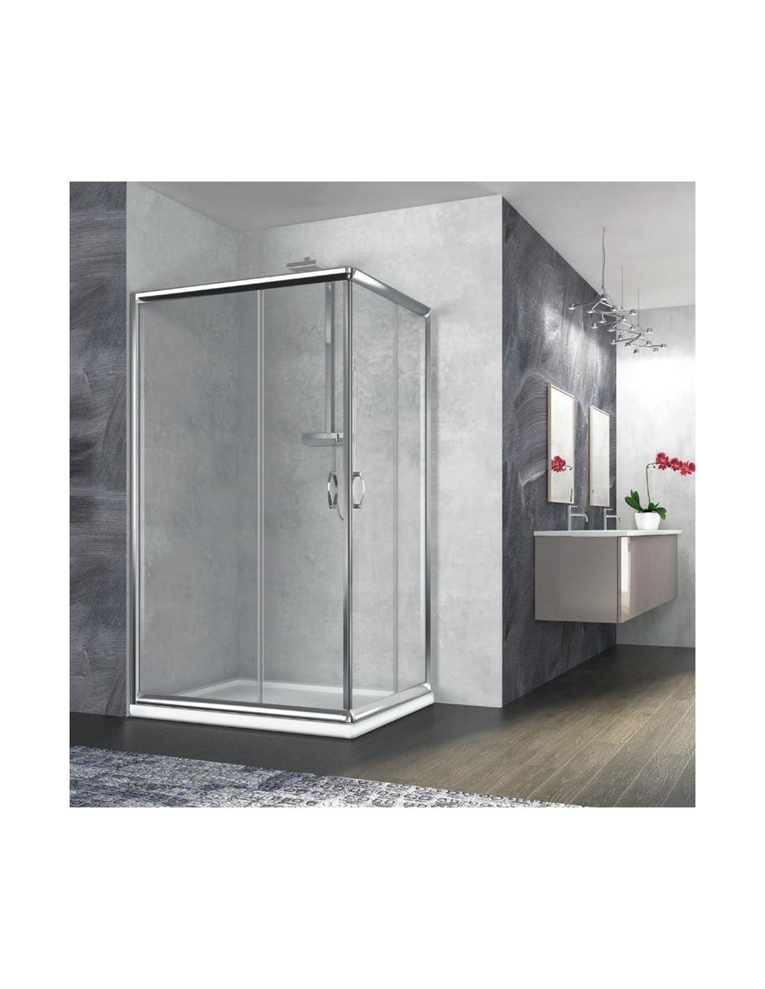 Box doccia angolare rettangolare 70x100 quaranta for Doccia rettangolare