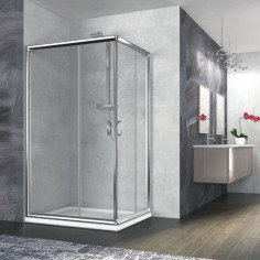 Box doccia rettangolare Nolan 80x120 cristallo stampato 6 mm altezza 190 cm