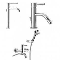 Paini Cox small miscelatore lavabo tipo alto, bidet e vasca esterno con doccia duplex