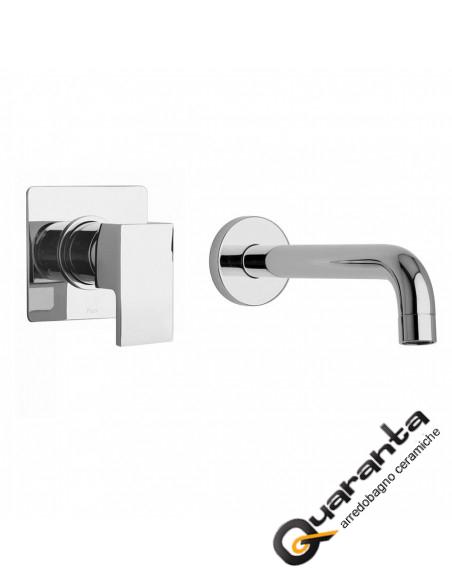 Paini Dax R miscelatore lavabo a muro, bocca interasse 190 mm