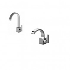 Bongio Domino Q basin and bidet taps
