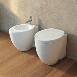 Cielo Le Giare back to wall toilet pan with soft close seat and bidet
