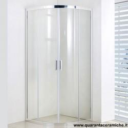 Slim box doccia tondo 90x90 cristallo stampato 6 mm altezza 185 cm