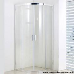 Slim box doccia tondo 80x80 cristallo trasparente 6 mm altezza 185 cm
