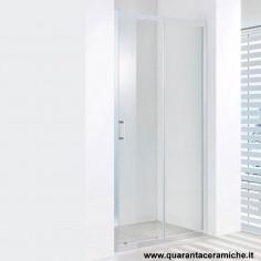 Slim nicchia scorrevole 140 cm cristallo trasparente 6mm altezza 185 cm