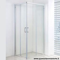 Slim box doccia rettangolare 70x100 cristallo trasparente 6 mm altezza 185 cm