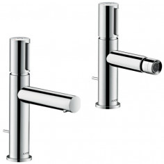 Hansgrohe Axor Uno Select single lever basin and bidet taps