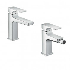 Hansgrohe Metropol Coolstart single lever basin and bidet taps 110
