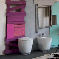 Sanitari filo muro Kerasan Tribeca vaso bidet coprivaso slim