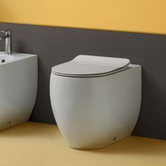 Kerasan Flo filo muro vaso e coprivaso slim soft close