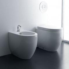Sanitärkeramik mit Wandanschluss Kerasan Flo 48 WC Bidet Toilettensitz Umlauf