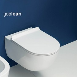 Flaminia App wall hung Goclean MATT WHITE toilet pan with slim soft close seat