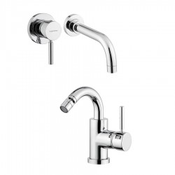 Bugnatese Kobuk wall mounted basin tap and bidet tap