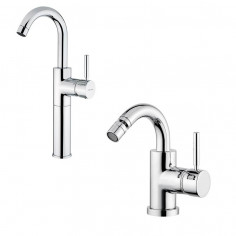Bugnatese Kobuk single lever high basin tap and bidet tap