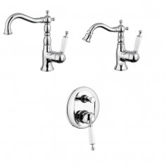 Bugnatese Oxford basin tap, bidet tap, shower mixer with diverter