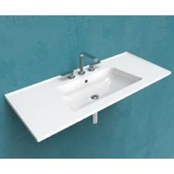 Ceramica Flaminia Bloom lavabo a consolle sospeso cm 120