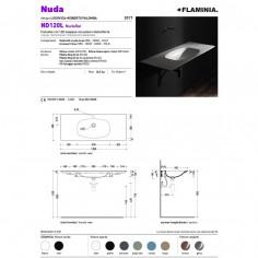 Flaminia Nudaflat 120 lavabo a consolle sospeso