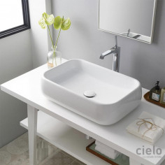 Cielo Shui countertop rectangular basin 600x400