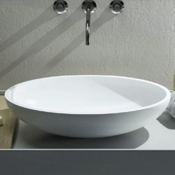 Cielo Le Bacinelle Eco countertop oval basin 620 mm