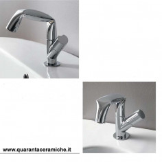 Flaminia Fold single lever basin and bidet taps