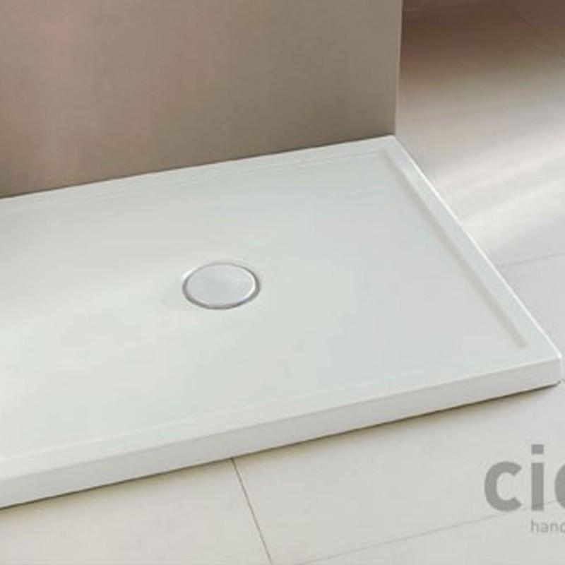 Piatto Doccia Ceramica 80x100.Cielo Sessanta Piatto Doccia 80x100 H 6 Bianco