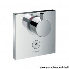 Hansgrohe ShowerSelect, set esterno termostatico ad incasso ad alta portata con 1 utenza