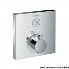 Hansgrohe ShowerSelect, set esterno termostatico ad incasso con 1 utenza