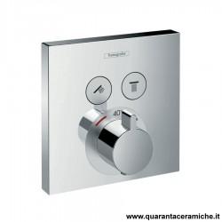 Hansgrohe ShowerSelect, set esterno termostatico ad incasso per 2 utenze