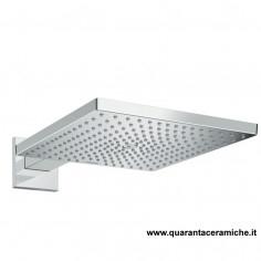 Hansgrohe Soffione quadrato Raindance E 300 Air 1jet con braccio doccia390 mm
