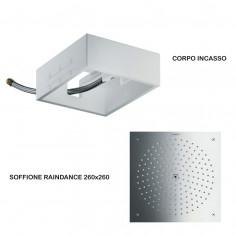 Hansgrohe Soffione quadrato Raindance 260x260 ad incasso + Corpo incasso