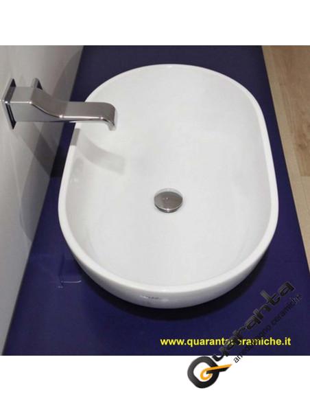 Flaminia Pass lavabo ovale da appoggio cm 62