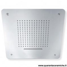 Sphera soffione doccia Cosmo in acciaio inox a soffitto 50x50 cm