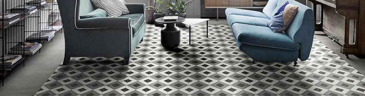 Decoro per pavimento - decoro in gres - decoro-|Quaranta ceramiche srl