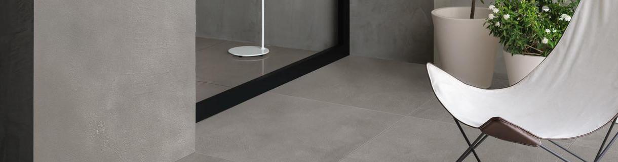 Pavimento effetto cemento resina per esterno-gres  Quaranta ceeramiche