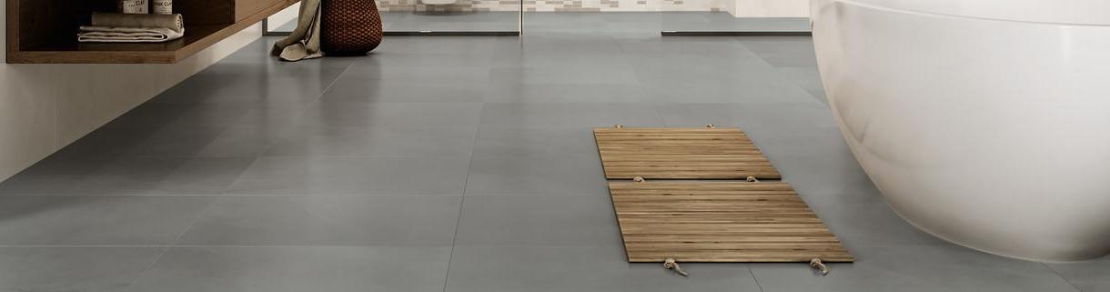 Pavimento effetto cemento resina-gres interno|Quaranta ceramiche srl