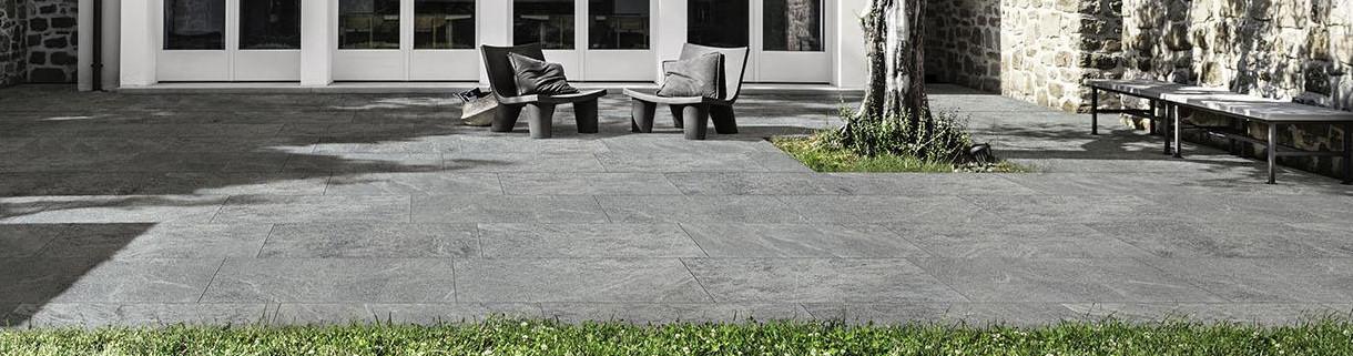 Pavimento effeto pietra per esterno-gres pietra |Quaranta Ceramiche